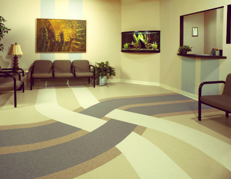 3 benefits of commercial vinyl floors for your office 3 for Floor sheet for office