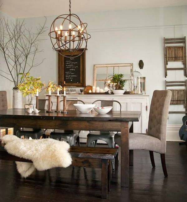 3 benefits of decorating your home with wooden furniture - Rustic dining room furniture bringing cozy nature atmosphere inside ...