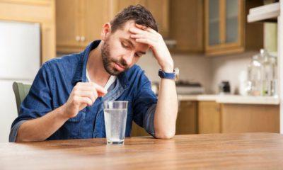 men taking pills antacid