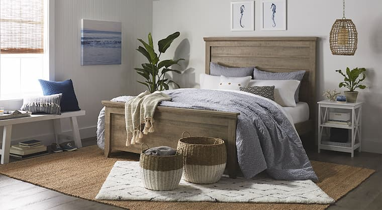bedroom with mattress and decorative accessories