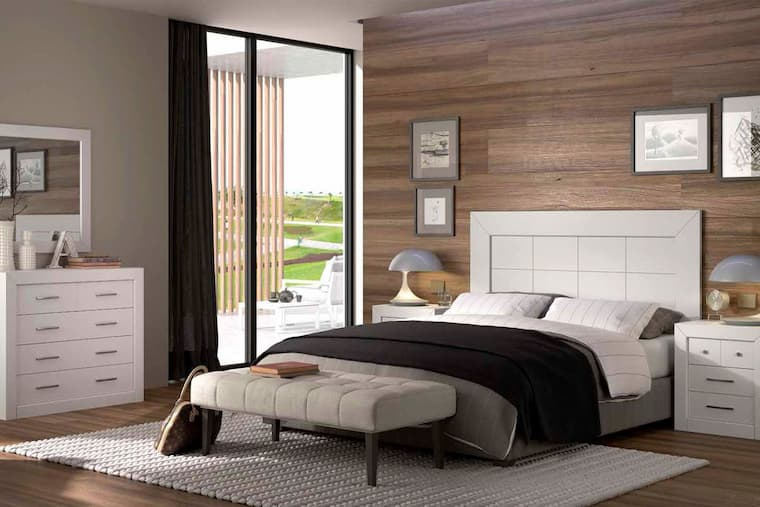 modern bedroom with decorative accessories