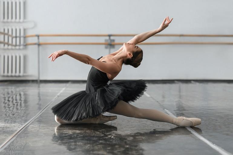 A ballerina dancing