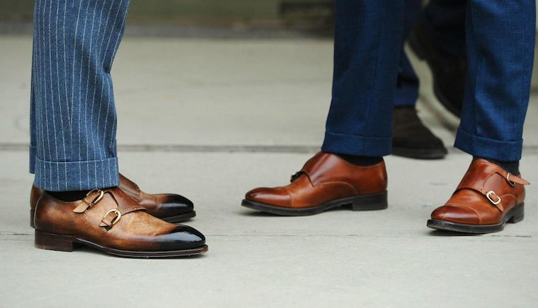 guys wearing leather shoes
