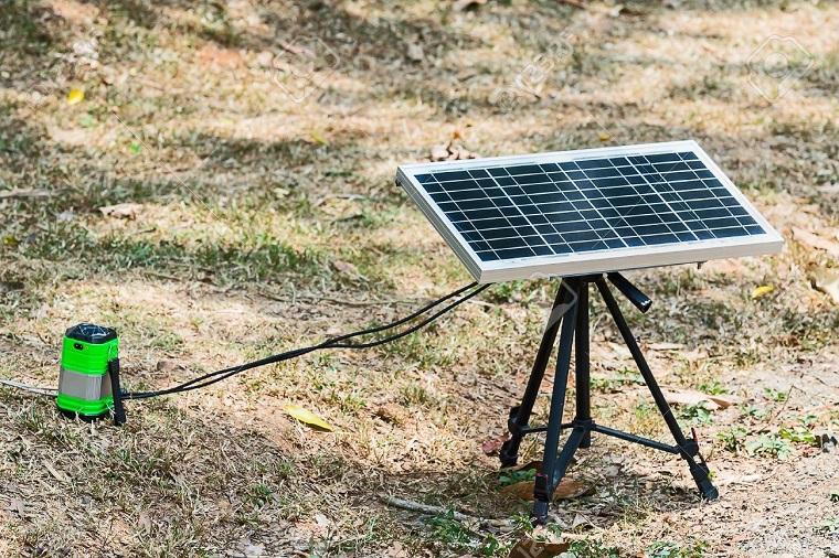 portable solar-powered panel