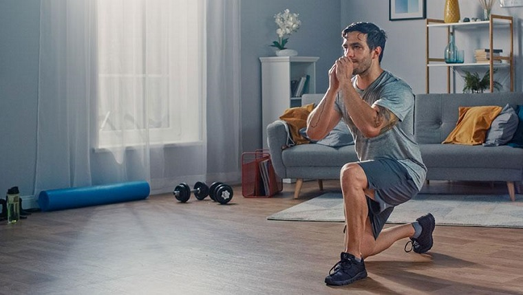 gym comfortably working out at home